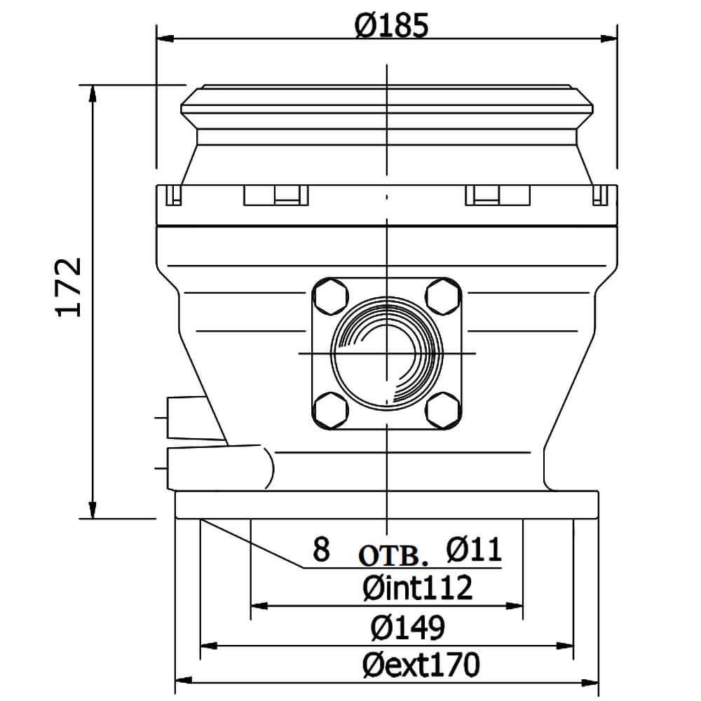 API-адаптер нижнего слива серии 74 для бензовоза