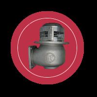 Донный клапан с квадратным фланцем для бензовоза