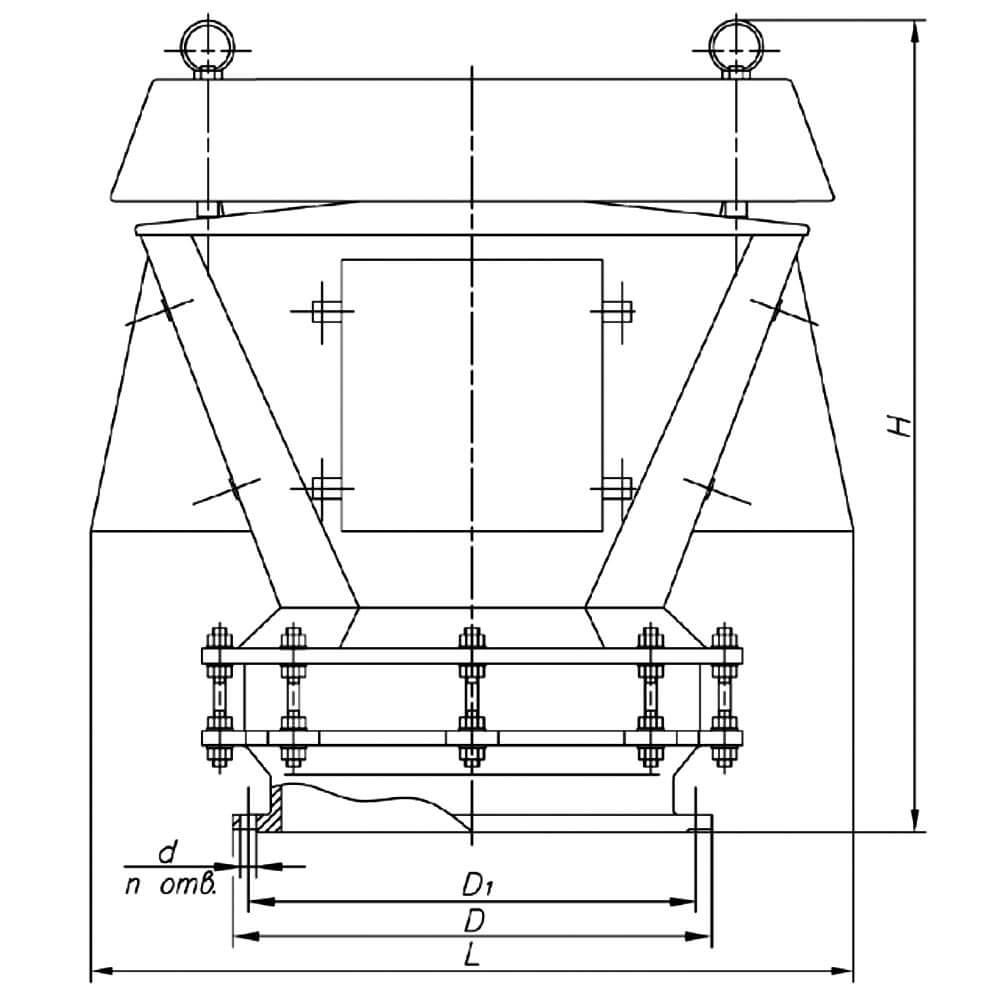 Клапан дыхательный совмещенный КДС-3000 чертеж