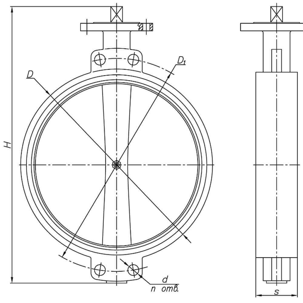 Затвор дисковый межфланцевый ЗДМ