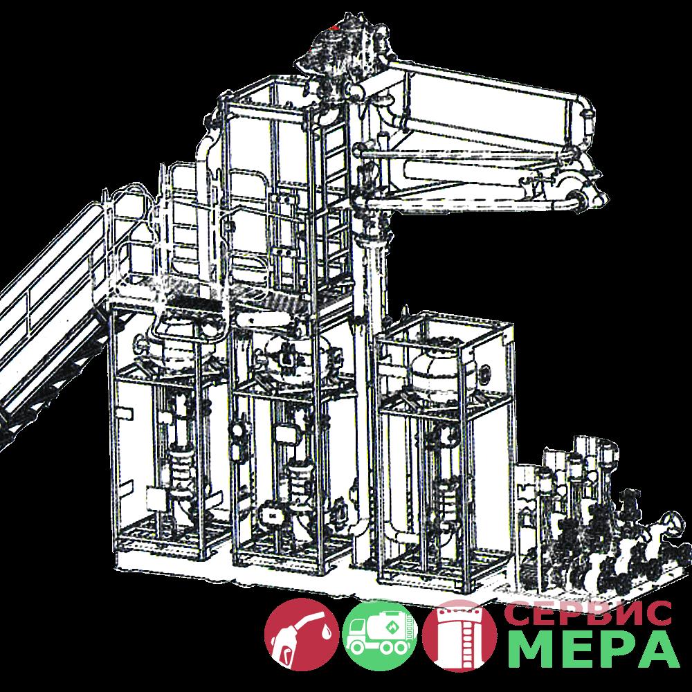 Автоматизированная система налива АСН-12ВГ - 3 вида топлива