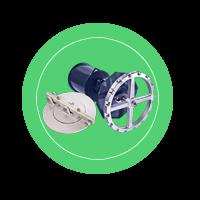 Донный клапан КМУ-80, КМУ-150 с механизмом управления