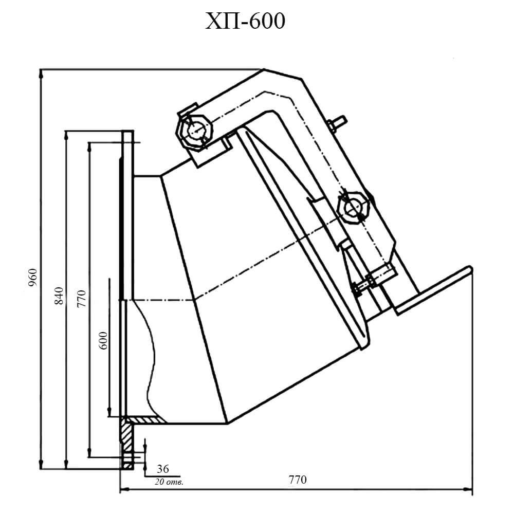 Хлопушка ХП-600 чертеж