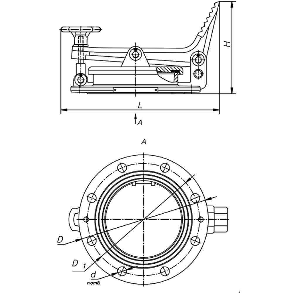 Люк замерный ЛЗ (ЛЗ-80, ЛЗ-150) чертеж