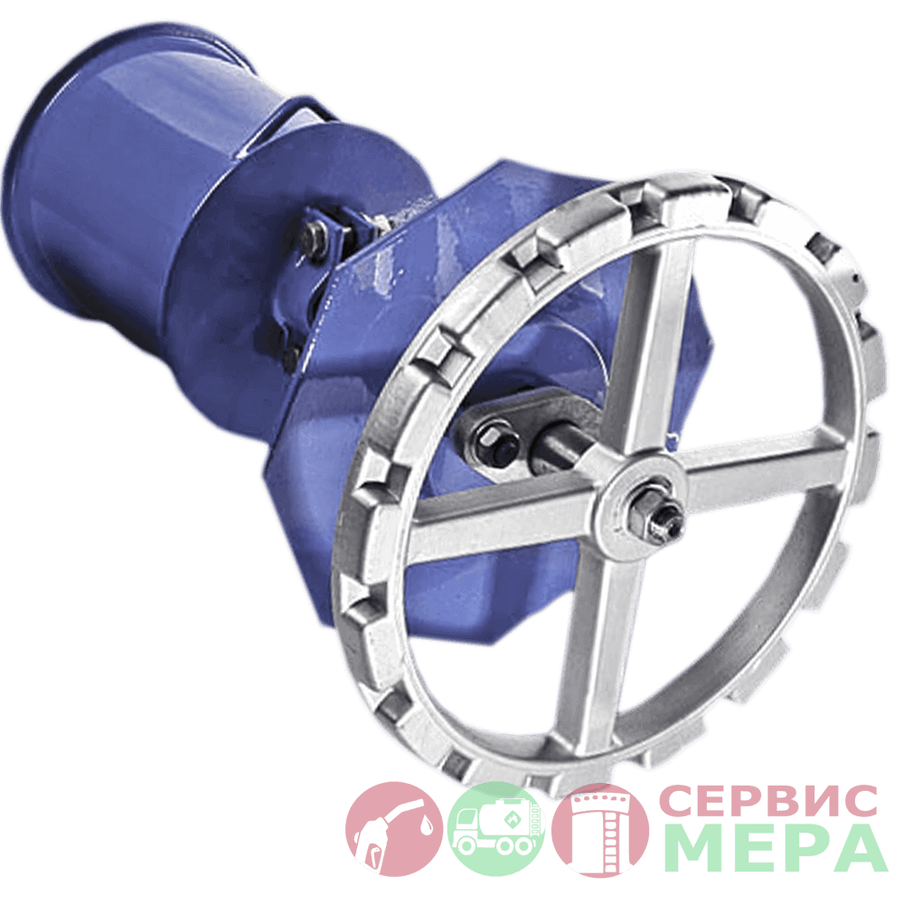Механизм управления хлопушкой резервуара МУ-1 (боковой)
