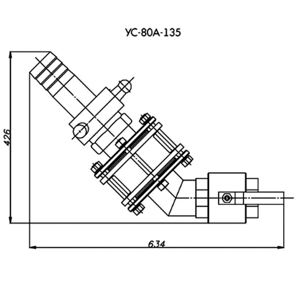 Сливное устройство УС-80 А-135 - чертеж