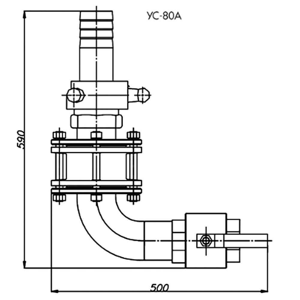 Сливное устройство УС-80 А - чертеж