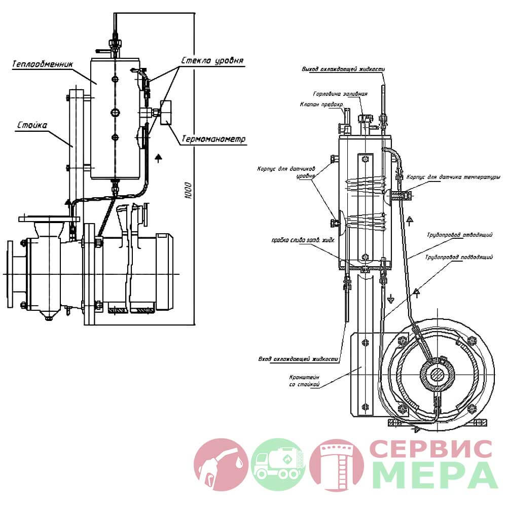 Насос КМН-80-65-165 2Г СО - чертеж 2