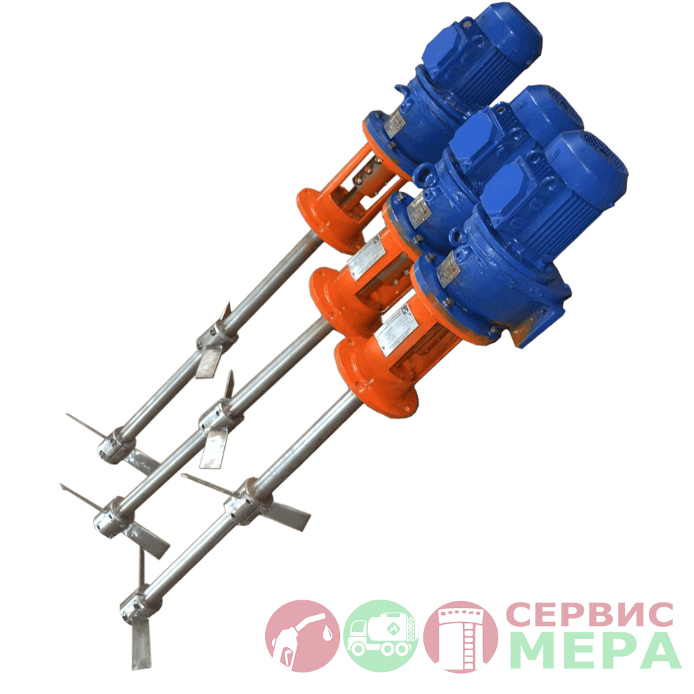 Двухлопастная мешалка МЛ для резервуара