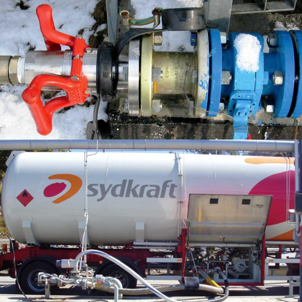 Соединение TODO-GAS Dry-Break в работе