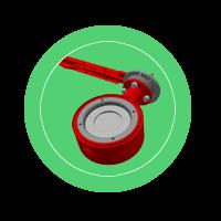 Ручная дисковая поворотная заслонка ЗОН-12