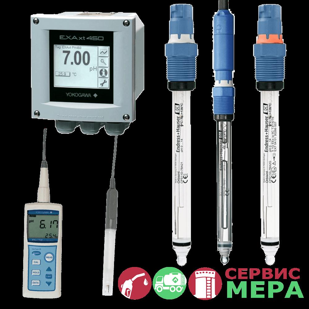 Анализаторы уровня pH и ОВП Endress+Hauser и Yokogawa